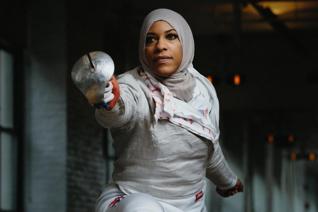 Ibtihaj Muhammad photographed at the Fencer, New York, on feb 9, 2016.