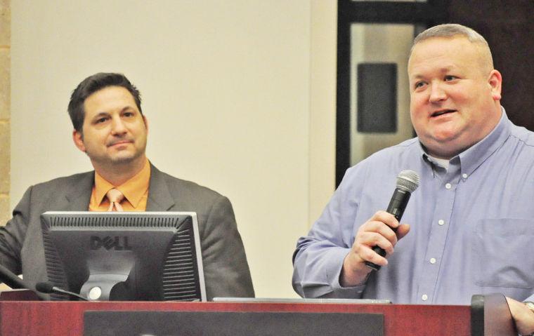 John Gaundolo, former FBI Special Agent with Culpeper County Sheriff Scott Jenkins at Islamic jihadi threat training seminar