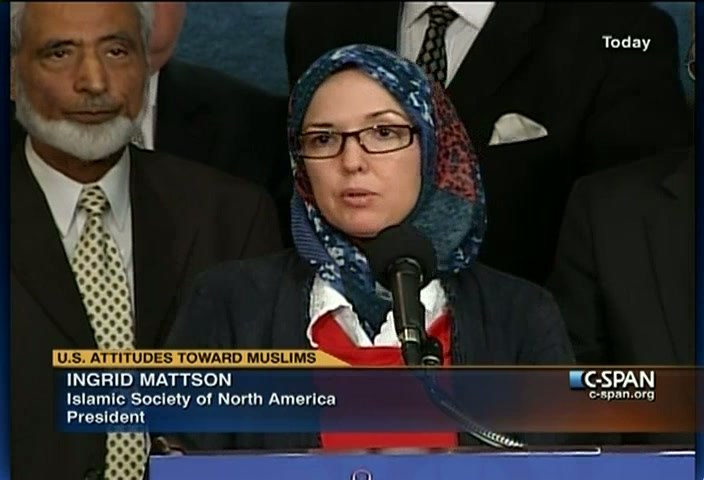 Barack Hussein Obama chose Ingrid Mattson to offer a Muslim prayer at his inauguration