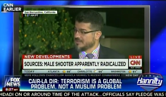 CAIR LA spokesman Hussam Ayloush blamed American foreign policy for Islamic terrorism today