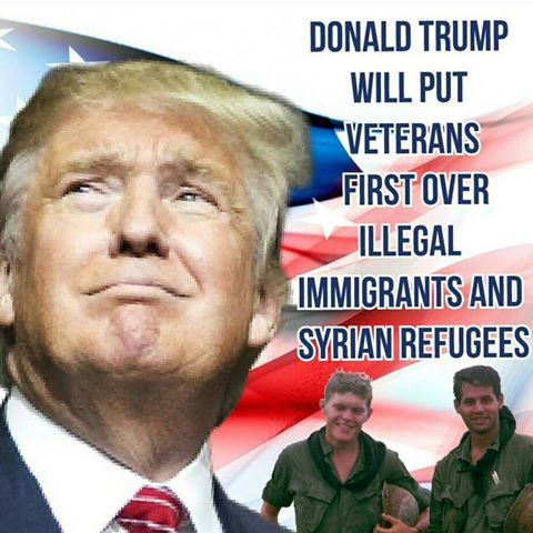 Image result for VETERANS FIRST TRUMP