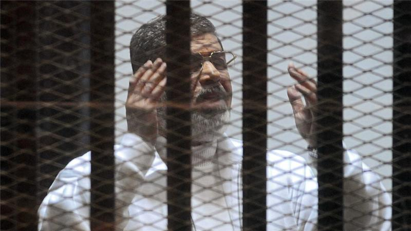 DEPOSED Muslim Brotherhood president of Egypt in prison awaiting death sentence