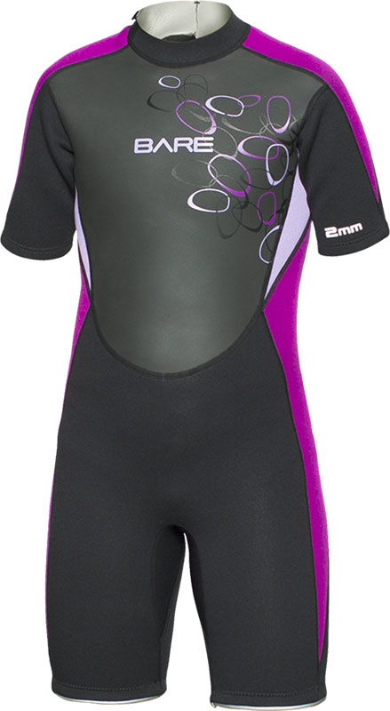 2mm Manta Shorty Wetsuit - Purple