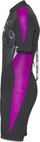 2mm Manta Shorty Wetsuit - Purple Side
