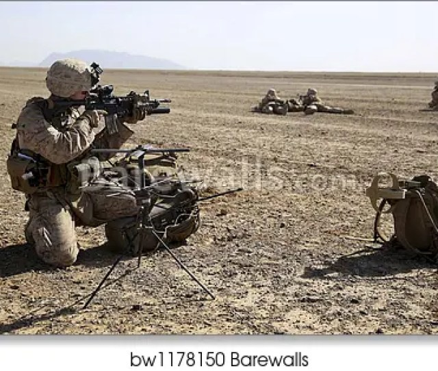 Art Print Of Field Radio Operator Provides Security During A Mission In Afghanistan By Stocktrek Images