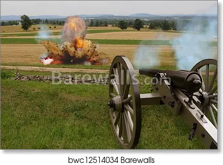 civil war cannon with