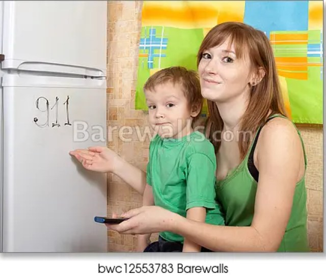 Art Print Of Mom Teaches Child