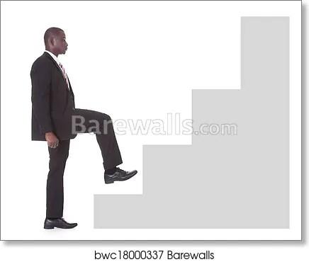 businessman climbing steps art