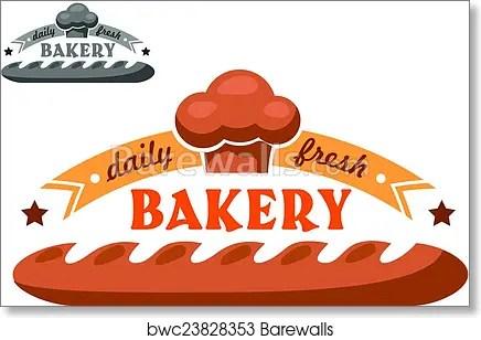Bakery Shop Emblem Or Logo Art Print Barewalls Posters Prints