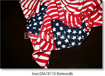 american flag draped dark