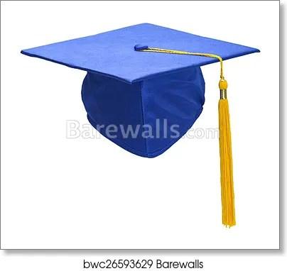 blue graduation hat front