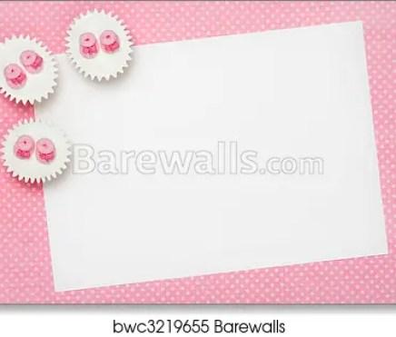Blank Baby Shower Invitation Art Print Poster