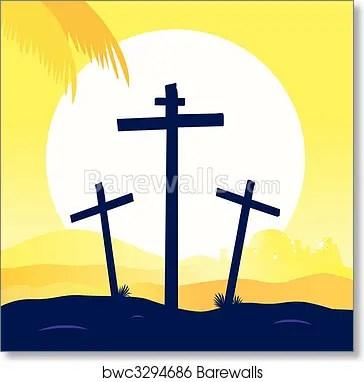 jesus crucifixion calvary scene