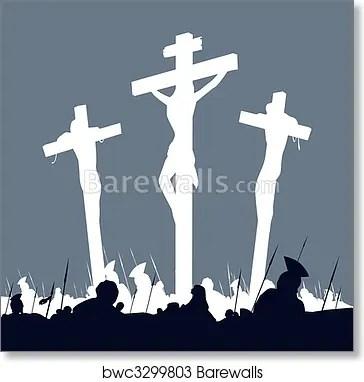 jesus christ crucifixion scene