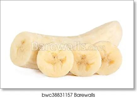 banana slice closeup art