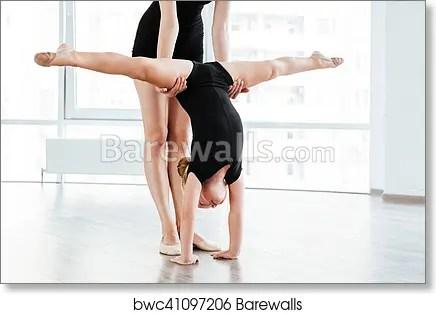 little girl ballerina standing