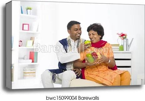 healthy punjabi family mother