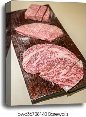 wagyu a5 beef canvas