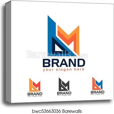 bm letter b and