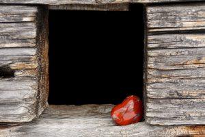 Hjärta i fönster