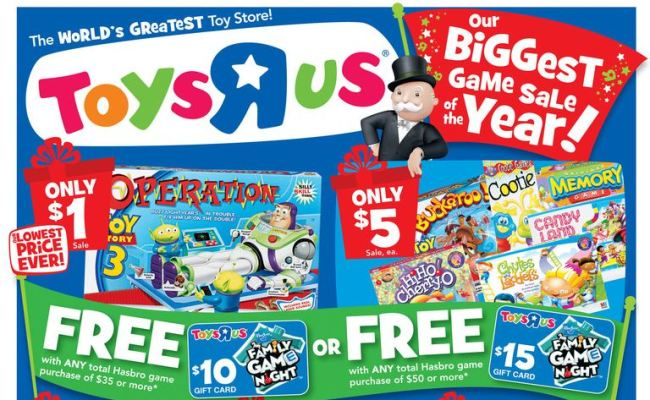 Toys R Us Deals Starting 11 6 Toy Story 3 Operation Game