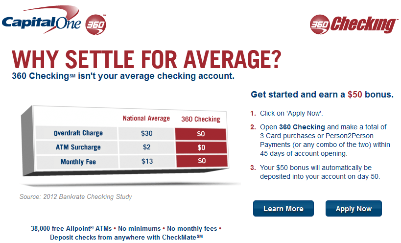 Earn 50 in Cash for Opening an Online Checking Account