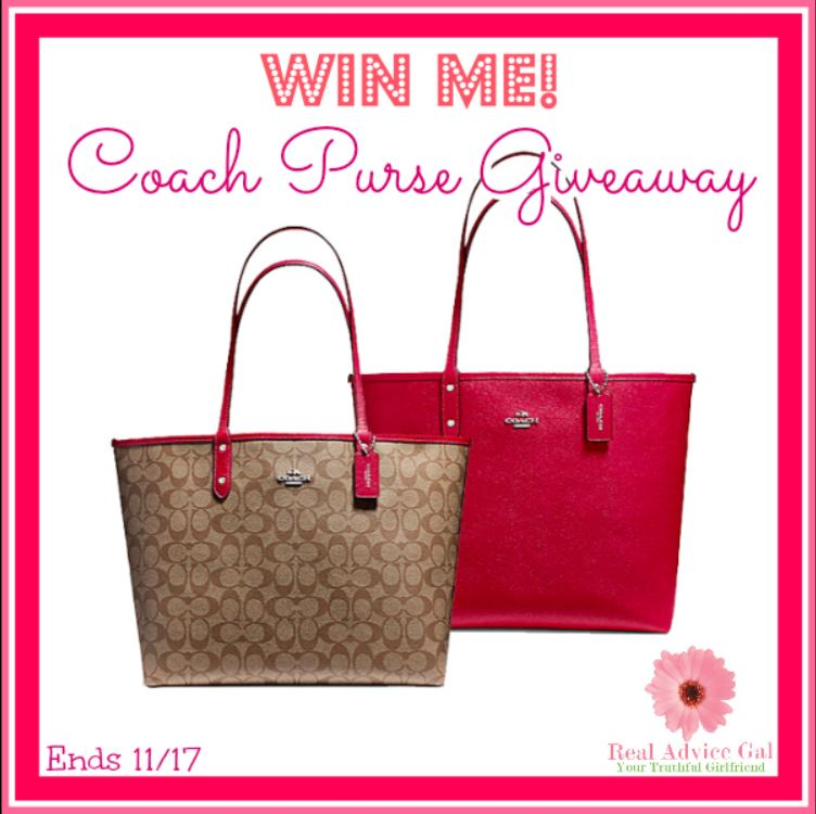 Coach Giveaway Ends November 17th (Friday) 11:59pm EST.