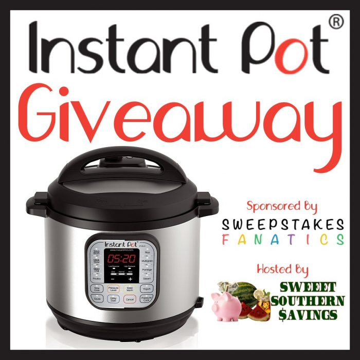 Instant Pot Giveaway Dates: March 28, 2018, at 9:00 am EST to June 3, 2018