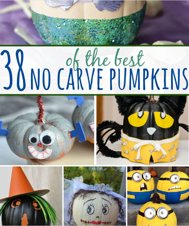 38 NO CARVE Pumpkin Ideas