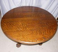 Bargain John's Antiques | Antique Round Oak Table - 48 ...