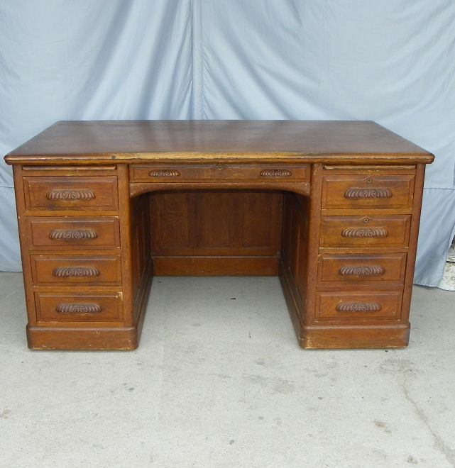 Bargain Johns Antiques  Antique Oak Paneled Executive