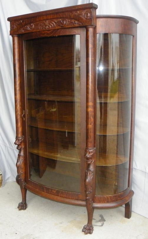 Bargain Johns Antiques  Antique Oak China or Curio