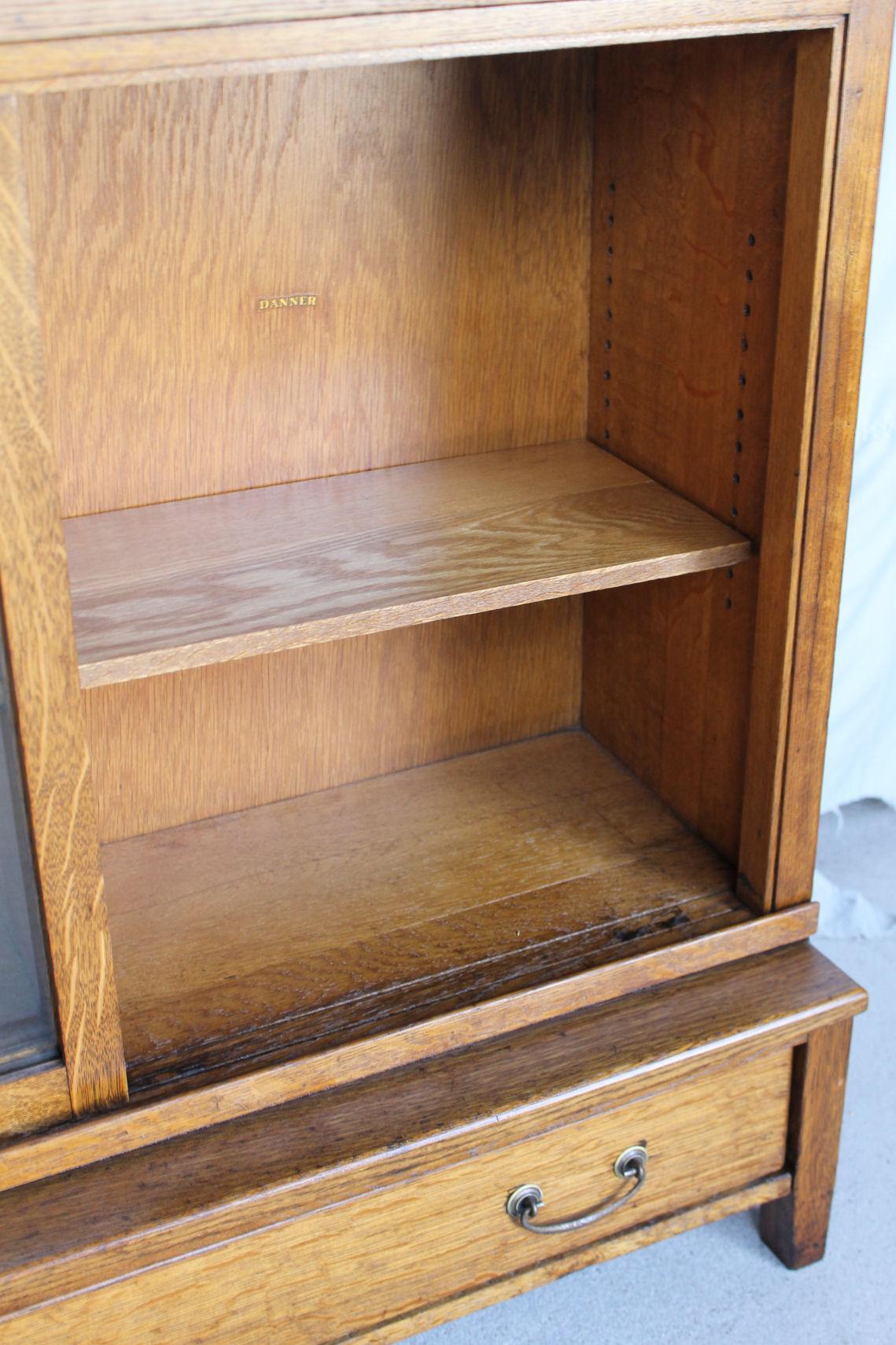 Bargain Johns Antiques  Antique Mission Oak Bookcase