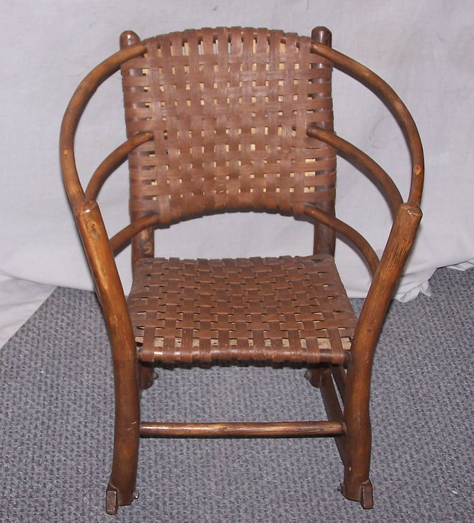 antique child rocking chair chairs value bargain john's antiques | child's old hickory rocker -