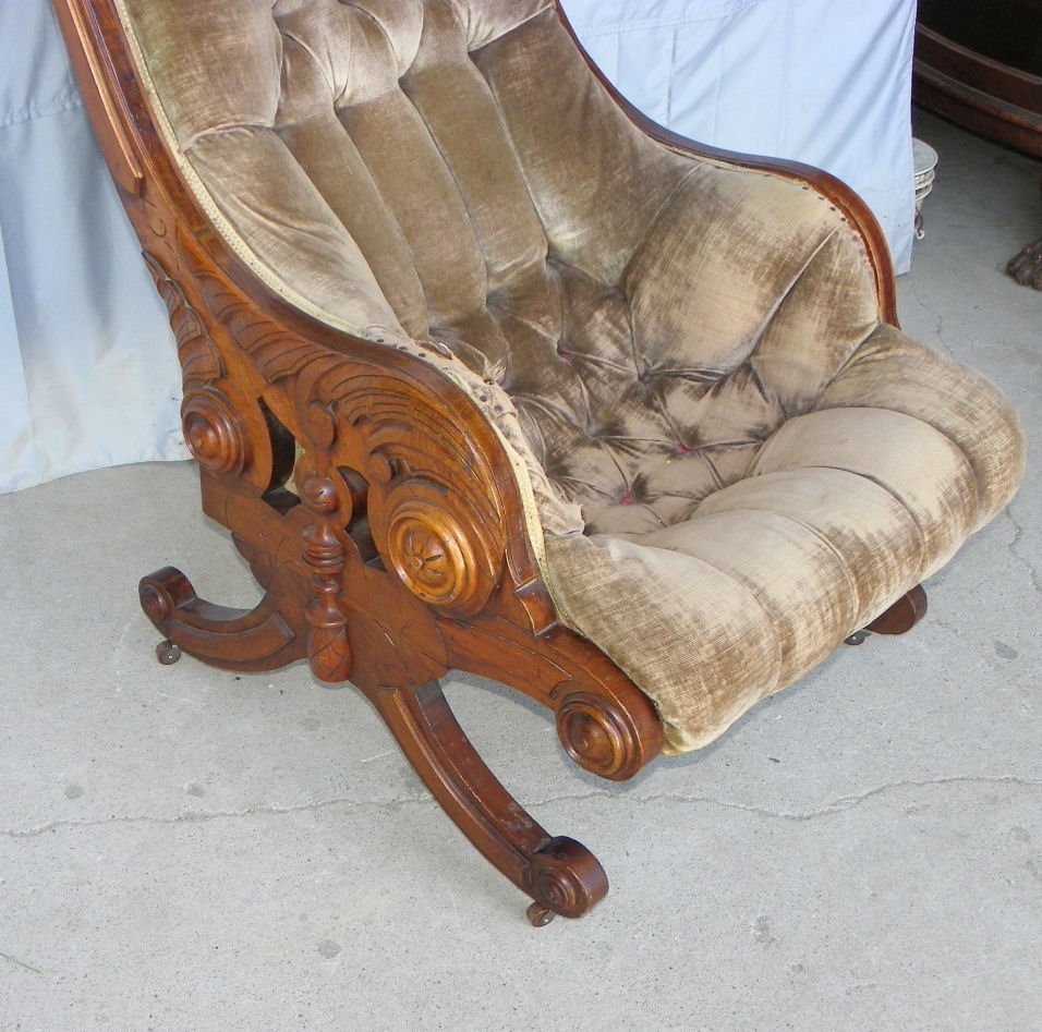 revolving chair accessories covers & linens madison heights mi bargain john's antiques » blog archive antique american victorian walnut sleepy hollow ...