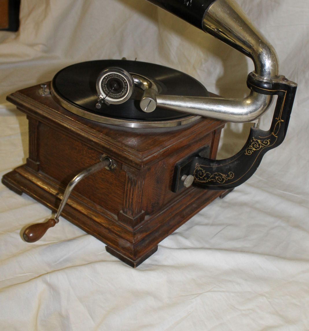 Bargain Johns Antiques  Antique Oak Victor Record Player