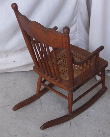 Bargain Johns Antiques  Antique Childs Oak Rocking