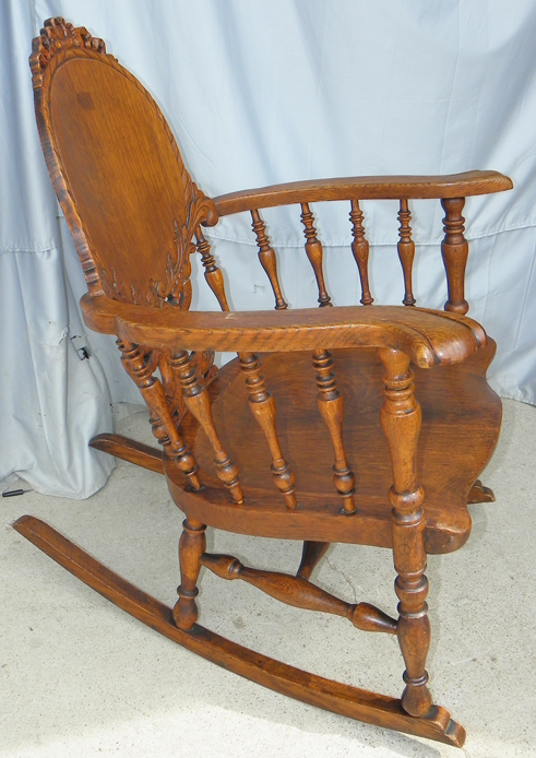 antique rocking chair cane back dining room chairs bargain john's antiques | fancy victorian carved oak -