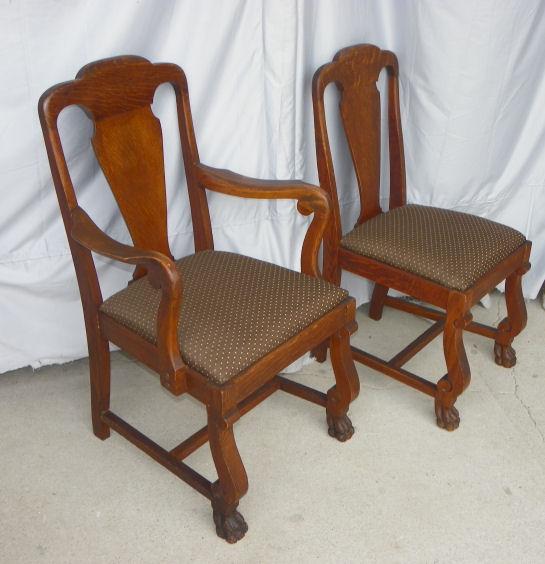 Bargain Johns Antiques  Antique Oak T back Chairs with