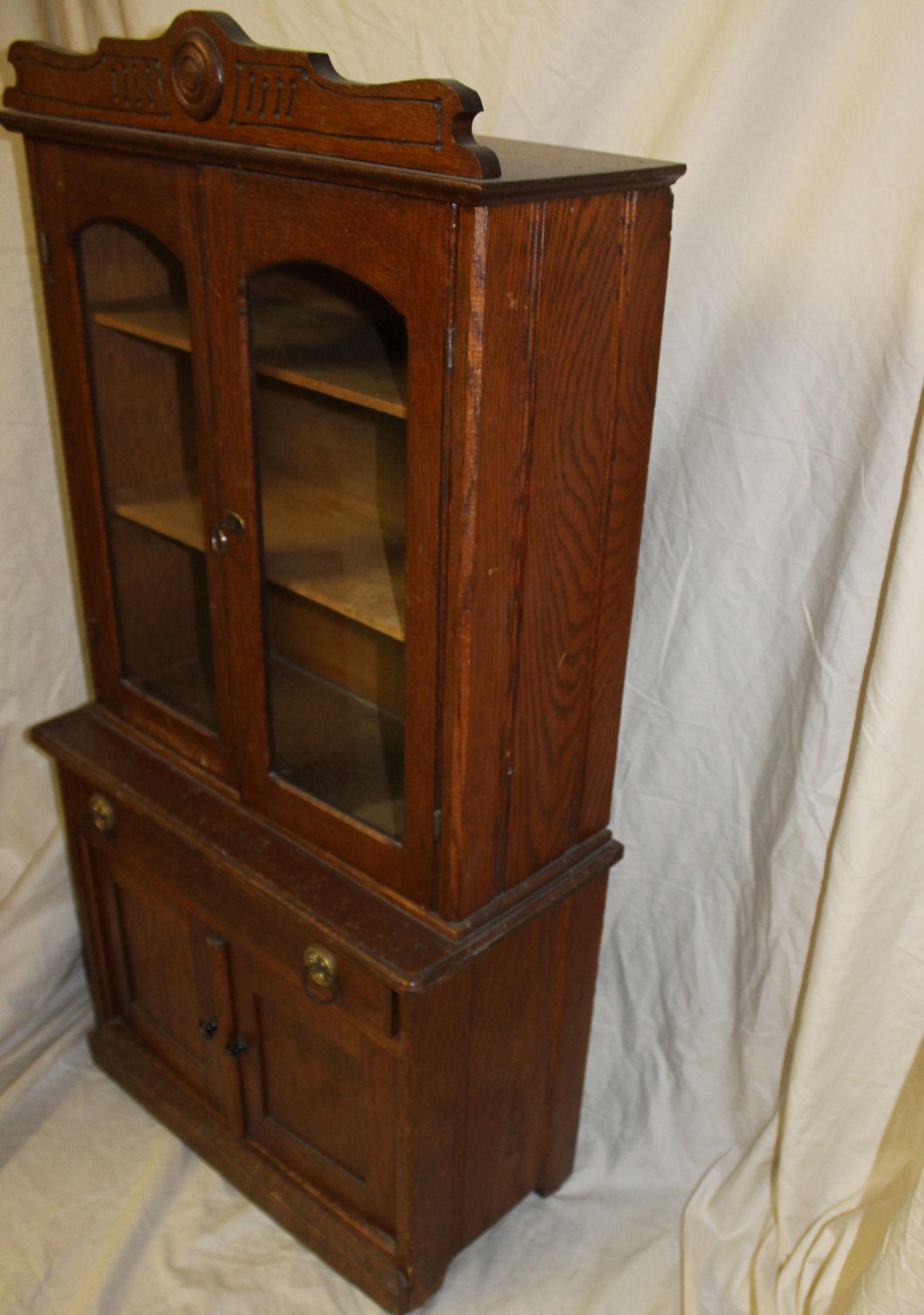 Bargain Johns Antiques  Antique Oak Kitchen Cupboard
