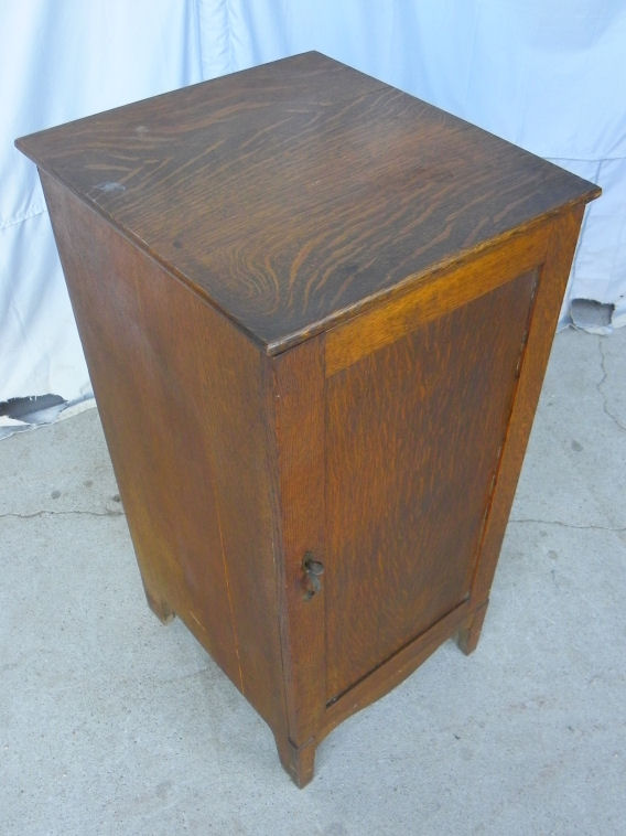 Bargain Johns Antiques  Antique Oak Cylinder Record