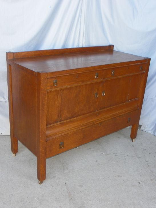 Bargain Johns Antiques  Antique Mission Oak Buffet or