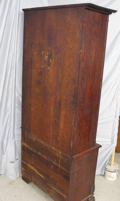 Bargain Johns Antiques  Antique Oak Gun Cabinet
