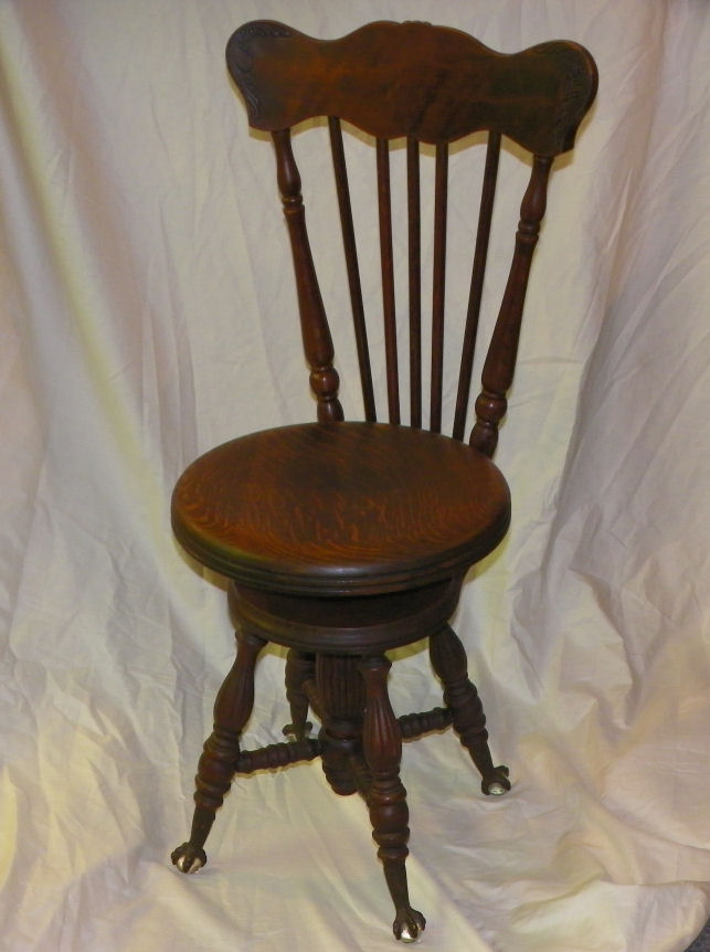 Bargain Johns Antiques  Antique Oak Piano Stool with