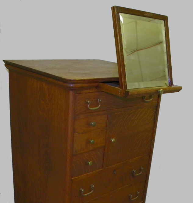 Bargain Johns Antiques  Rare Antique Oak Gentlemans Chest of Drawers  Berkley and Gay
