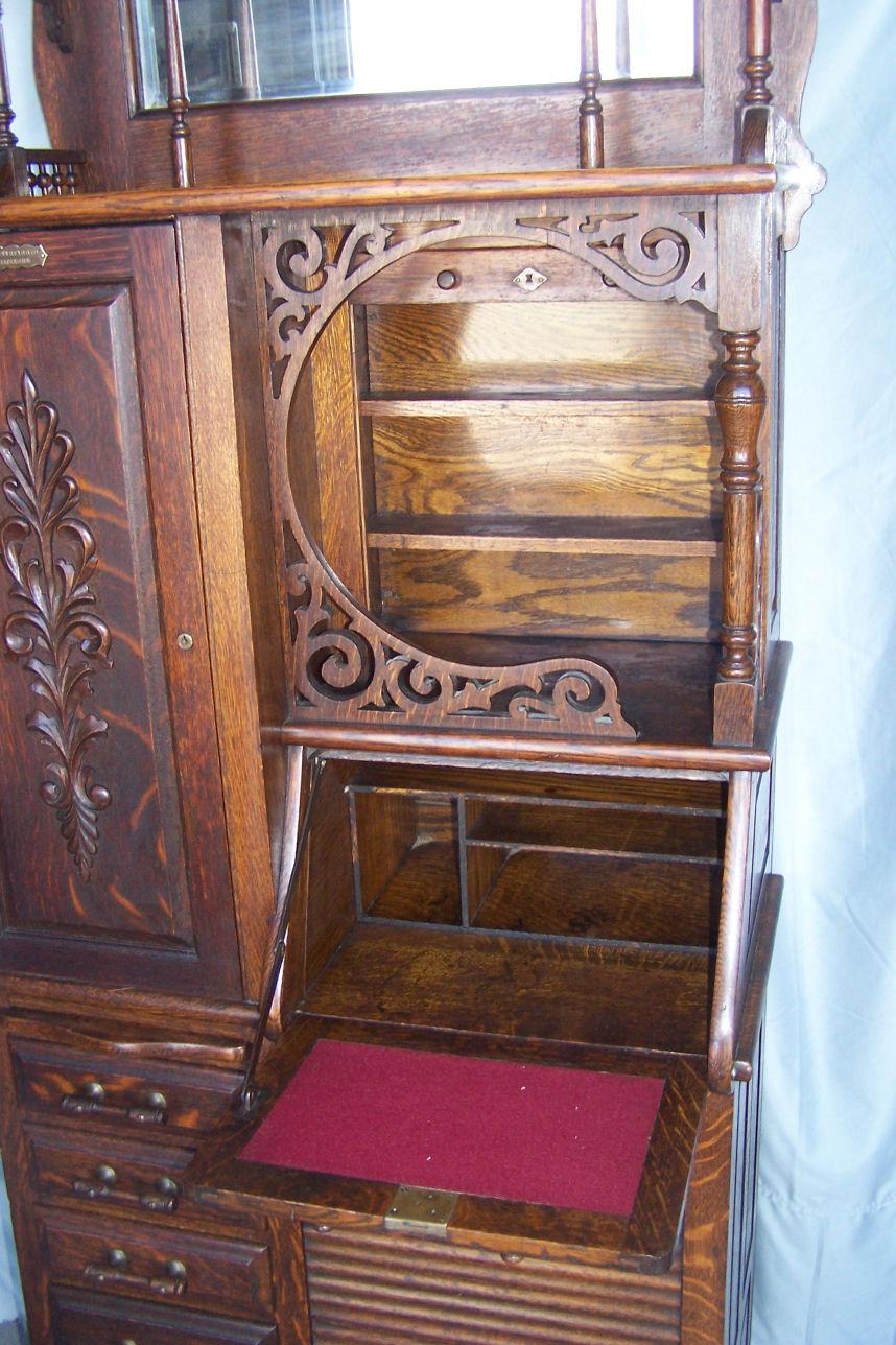 Bargain Johns Antiques  Antique Oak Dental Storage
