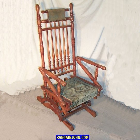 glider chair accessories wedding covers and sashes bargain john's antiques | victorian antique wooden rocker with upholstered seat - ...