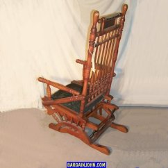 Rocker Glider Chair Pottery Barn Toddler Bargain John's Antiques | Victorian Antique Wooden With Upholstered Seat - ...