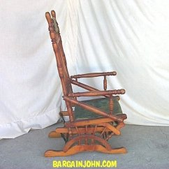 Rocker Glider Chair Floor Protectors Bargain John's Antiques | Victorian Antique Wooden With Upholstered Seat - ...