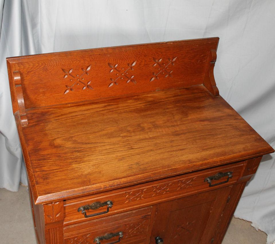 Bargain Johns Antiques  Antique Oak Wash Stand Commode